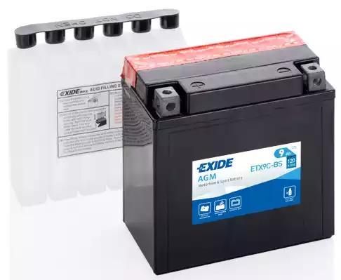 Стартерная аккумуляторная батарея| Стартерная аккумуляторная батарея EXIDE ETX9C-BS - Фото #1