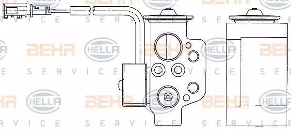 форсунка, расширительный клапан HELLA 8UW 351 234-611 - Фото #1