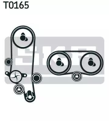 Водяной насос + комплект зубчатого ремня SKF VKMC 01121-2 - Фото #1