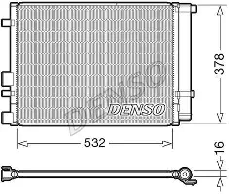 Конденсатор, кондиционер DENSO DCN41006 - Фото #1